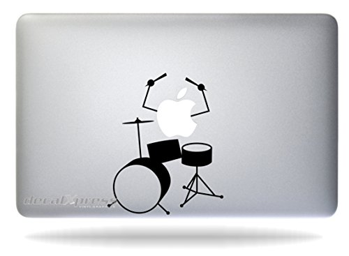 Drums Solo - Sticker Decal MacBook, Air, Pro All Models