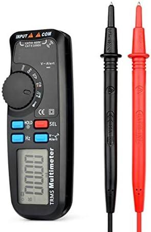 Mini Multimeter Auto Range 6000 Counts,One-Handed Operation Anti-Burn Pocket Multi Meter Capacity Temperature Measure