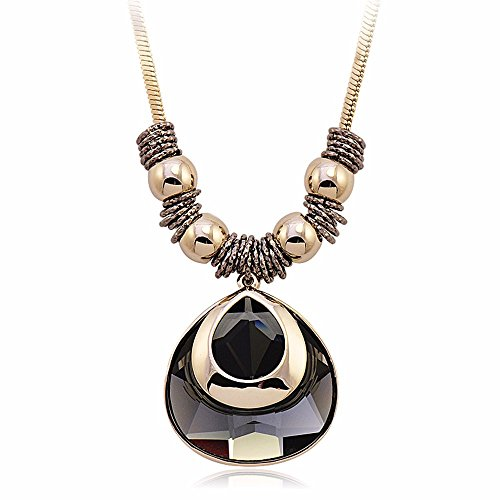 JIN The atmosphere long paragraph sweater chain hanging clothes, light coffee Gold Pendant Necklace For Womens
