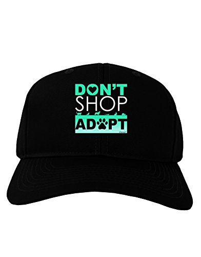 TooLoud Don't Shop Adopt Adult Dark Baseball Cap Hat - Black