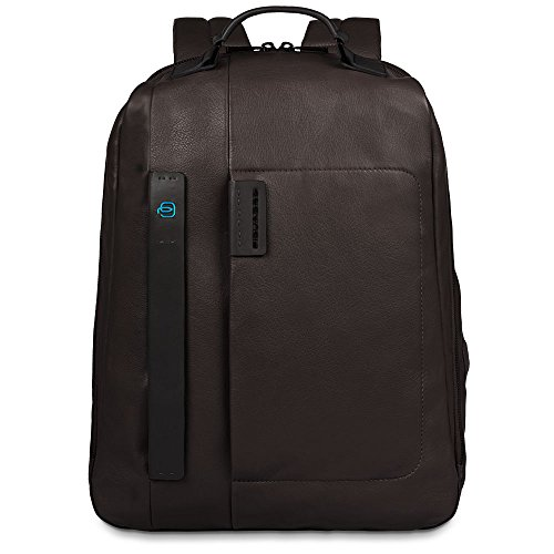 Piquadro Big Computer Backpack with Compartment Bottle and Umbrella Holder, Brown, One Size