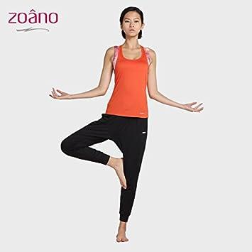 Verano vestido de Yoga mujer chaleco ejecutando dos ...