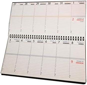 Planificador semanal de escritorio, agenda de mesa, 30 x 14 cm ...