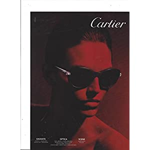 PRINT AD For 2014 Cartier Sunglasses