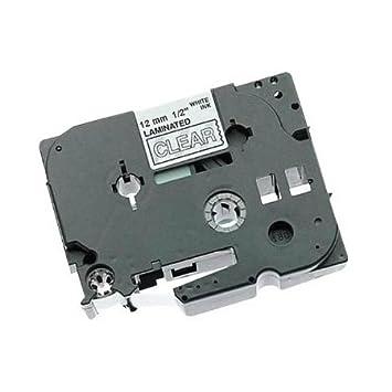 2x XL kompatible Schriftbänder für Brother TZE135 Weiß auf Transparent-Drucker P