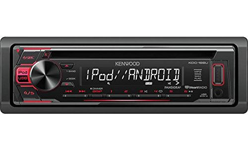 - Kenwood KDC-168U In-Dash 1-DIN CD Car Stereo Receiver with Front USB Input