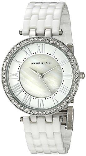 Anne Klein Women's AK/2131WTSV Swarovski Crystal Accented Silver-Tone - Anne Klein Watches White