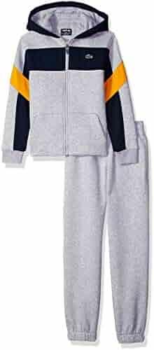 d93af301e612c Lacoste Boys  Sport Mix of Fabrics Color Block Tracksuits