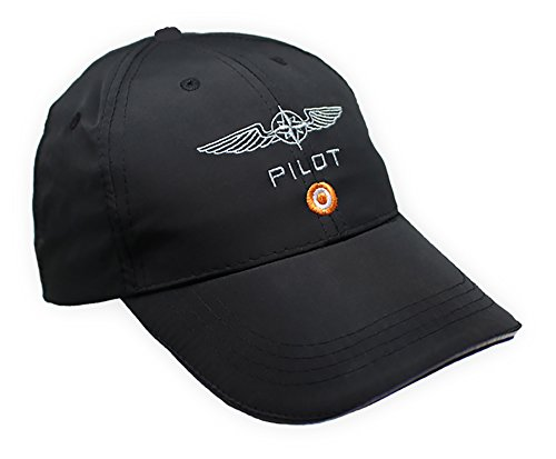 DESIGN 4 PILOTS Microfiber Cap Embroidered Pilot Wing, hat Cap Pilot ()