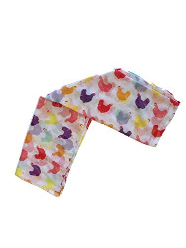 Scarf Layer - Fluffy Layers Fashion Scarves (White Chicken Print)