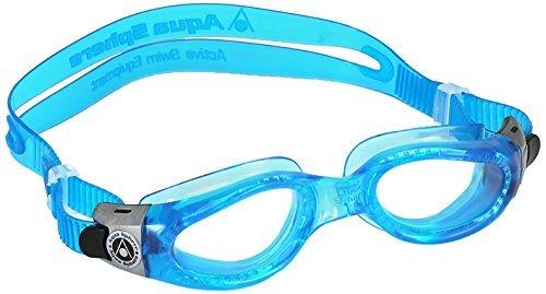 Aqua Sphere Kaiman Swim Goggle (Small, Clear Lens/Blue Frame) by Aqua Sphere