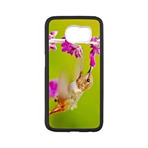 Durable Platic Case Cover for Samsung Galaxy S6-Hummingbird Pattern Printed Cell Phones Shell