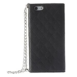 Pouches Look Grid Pattern PU Full Body Case with Card Slot for iPhone 5/5S (Assorted Colors) , Rose