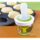ORPIO (LABEL) Kitchen Silicone Oil Brush BBQ Chef's Basting Set (Green)