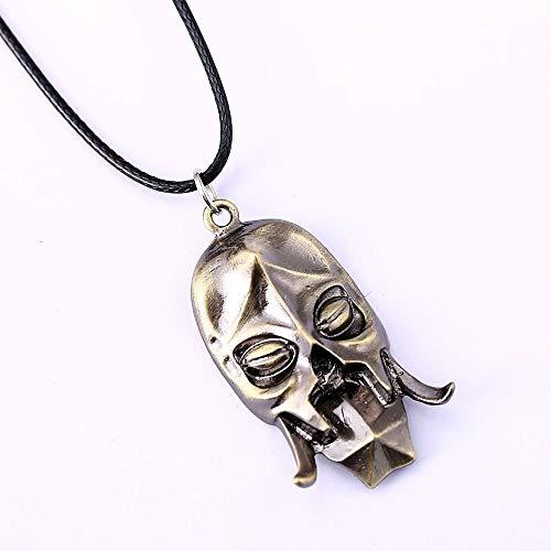 Algol - Dragon Priest Mask Necklace Game Konahrik Pendant Necklace Friendship Men Women Jewelry Choker Accessories