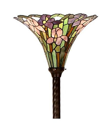 Warehouse of Tiffany QS32-BB75B Tiffany-style Iris Torchiere,