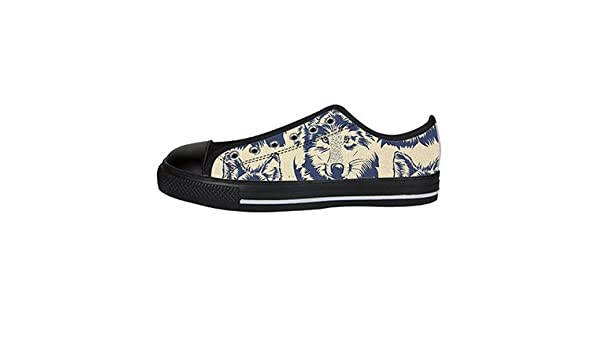 Daniel Turnai Fan Customized Wolf Painting Top Canvas Shoes for Men