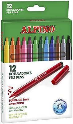 Alpino AR001002 - Pack de 12 rotuladores, colores surtidos: Amazon ...