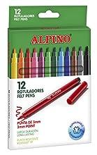 Alpino AR001002 - Pack de 12 rotuladores, colores surtidos