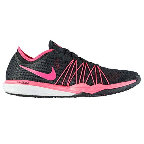 Official Shoes Nike Dual Fusion Hit Fitness Chaussures d'entraînement pour femme Anthracite/rouge Gym Sneakers