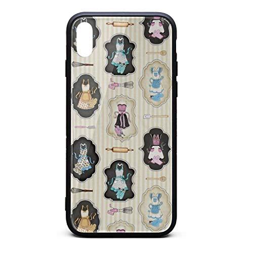 Hiunisyue iPhone Xs Max Case Aprons Cream