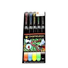 Chameleon Art Products 5-Pen Primary Tones Chameleon 5 Set