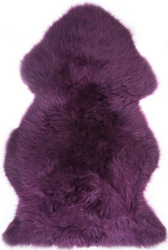 Purple Fur Rug Home Decor