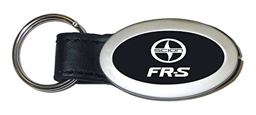Scion FR-S Oval Black Leather Key Chain Car Fob