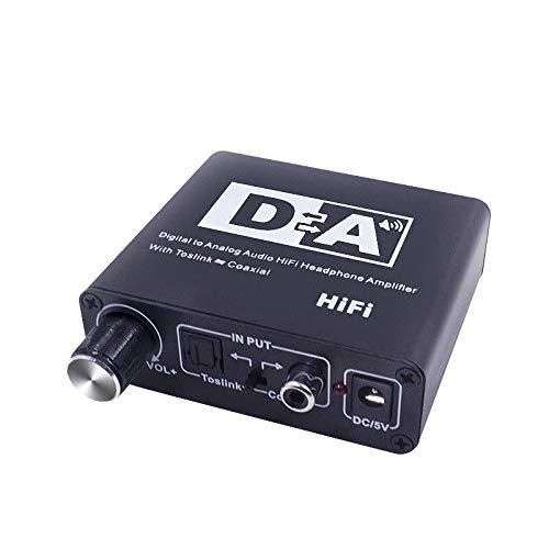 FidgetFidget Amplifier Digital to Analog Audio HiFi Head Phone Converter Box Toslink Coaxial