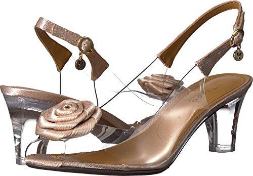 (J. Renee Dailona Women's Sandal 10 B(M) US Beige-Clear)