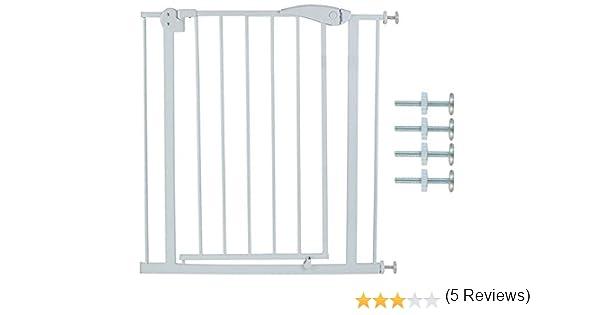 MALATEC Barrera de Seguridad metálica para Puertas eparador de estancias 6220, Größe:74-86 cm: Amazon.es: Hogar