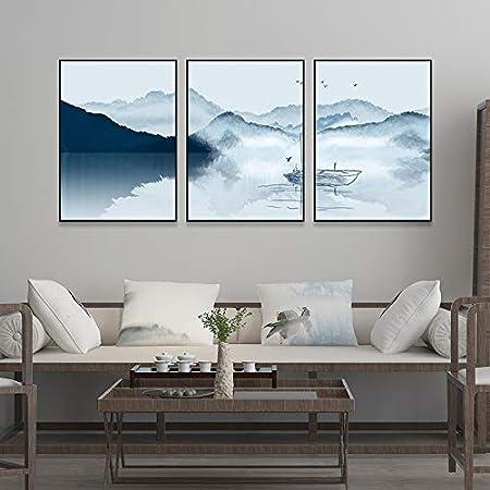 Zxddzl Nouvelle Chambre Triptyque Chinois Peinture Chambre