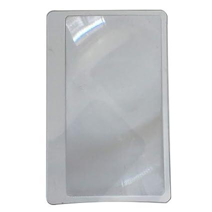 Lupa Fresnel Lentes 3X Lupa, 10pcs Portátil, Billetera de bolsillo Tarjeta de Crédito Tamaño Lupa