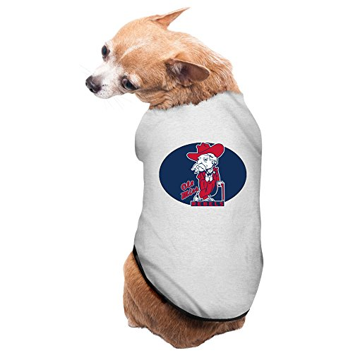 CoCe Dog's Ole Miss Rebels Fashion Fans Photo Dog Sweater Fleece M Gray