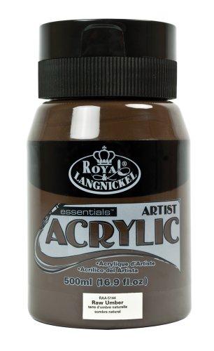 Royal & Langnickel Essentials Acrylic Paint 16oz/Jar-Raw Umber
