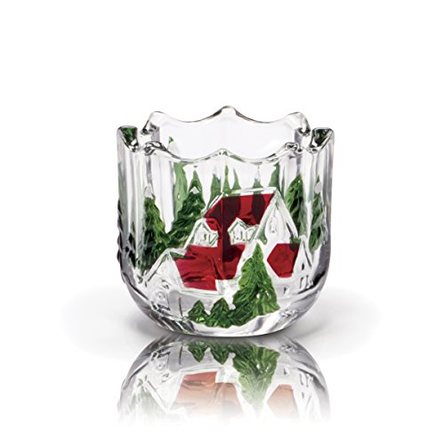 Mikasa Celebrations Winter Wonderland Votive Candle Holder, 3.5-Inch by Mikasa