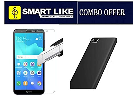 SmartLike Combo - Huawei Y5 Prime (2018) Tempered Glass + 1 Silicon Back  Cover