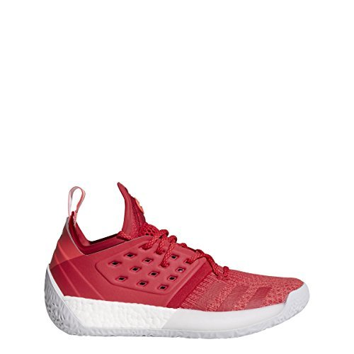 adidas Harden Vol.2 Pioneer Shoe Men's Basketball 10.5 Bold Red-Shock Red-Light Grey