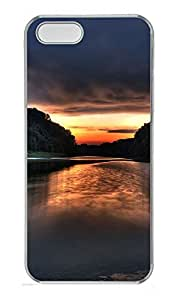 iPhone 5 5S Case Dusk evening landscape PC Custom iPhone 5 5S Case Cover Transparent