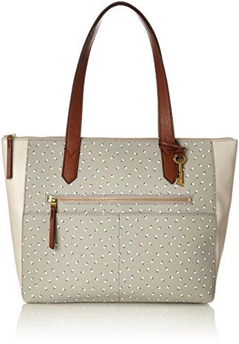 Fossil Damentasche? Fiona Ew Shopper - Bolsos totes Mujer Gris (Grey/White)