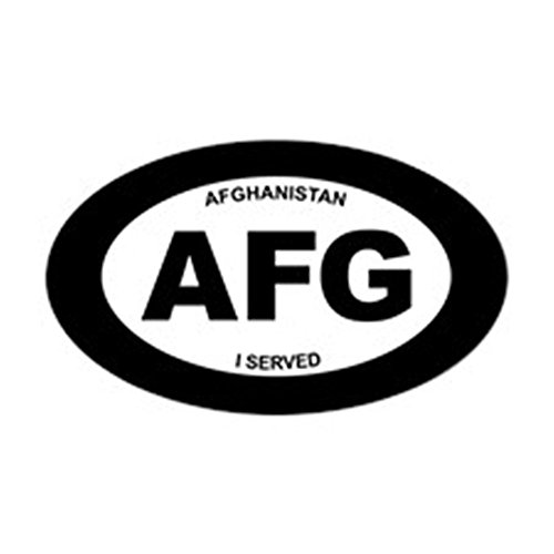 CafePress Afghanistan: I Served Oval Bumper Sticker, Euro Oval Car - Sticker Afghanistan Veteran
