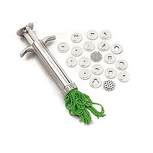HCSC 20 IN 1 Stainless Steel Crowded Mud Machine Polymer Clay Fimo Extruder Craft Gun Cake Fondant Sculpture Decorating Tool Set Hearty Creamic 4336842444