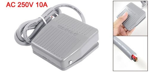 Sean Foot Pedal Switch Power Momentary Non-slip Gray AC 250 V 10 A SPDT NO NC Little Sean