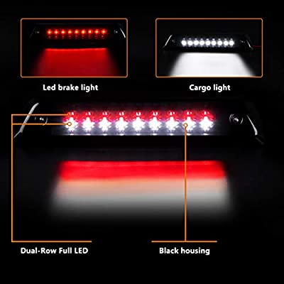 DWVO LED 3rd Brake Light Compatible with 2009-2014 Ford F150, Smoked High Mount Stop Light Trailer Cargo Lamp DWBL1010: Automotive