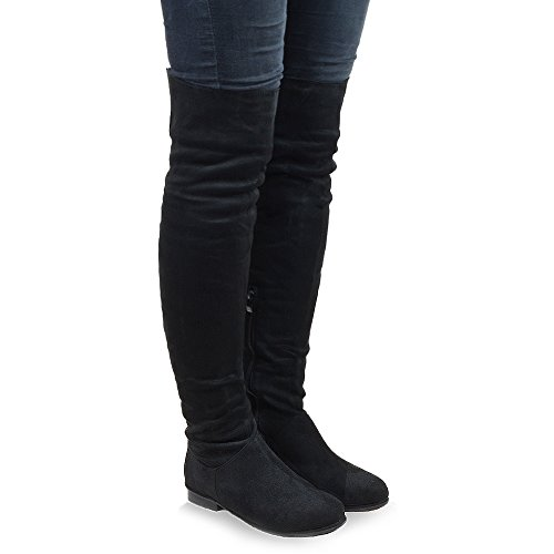6d1a258ea WOMENS OVER THE KNEE HIGH FLAT LADIES LONG FAUX SUEDE THIGH HIGH BOOTS SIZE  3-8 - Buy Online in Oman. | Apparel Products in Oman - See Prices, ...