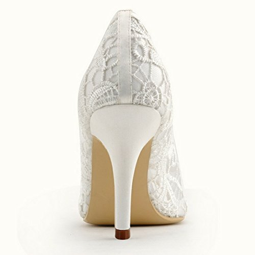 Minitoo MinitooUK-MZ8232 - Sandalias de Vestir Para Mujer Ivory-7cm Heel
