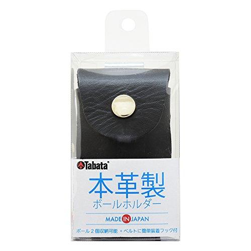 バイパスヒープダイバーTabata(タバタ) ボールケース 本革 本革製ボールホルダー BK  GV0884 BK BK