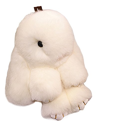 Homedeco Bag Handbag Bunny Rex Rabbit Fur Keychain, used for sale  Delivered anywhere in Canada