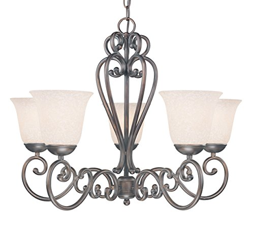 Classic Lighting 71065 ORB Cape Cod, Wrought Iron, Chande...