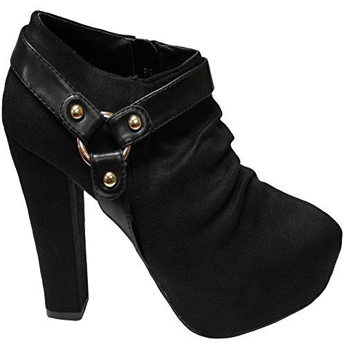 Femmes Pompes Mariée Promo de Dames Classique Bal Fête Haute de Aisha Talon Chaussures Noir Mariage Designer d07Cqxwgn